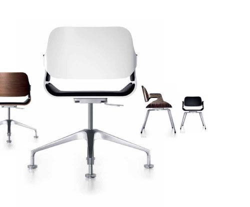 silver office chair by interstuhl daily icon