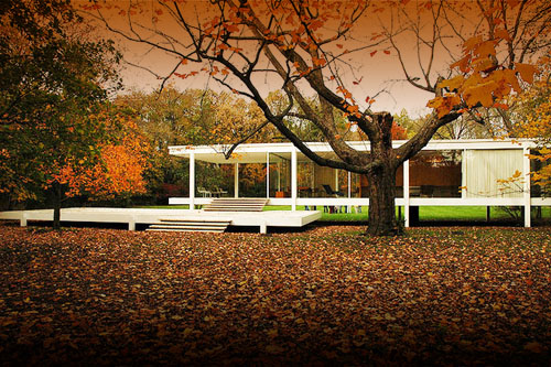 mies van der rohe farnsworth house daily icon. Black Bedroom Furniture Sets. Home Design Ideas