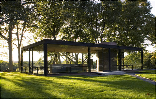 icon philip johnson s glass house daily icon. Black Bedroom Furniture Sets. Home Design Ideas