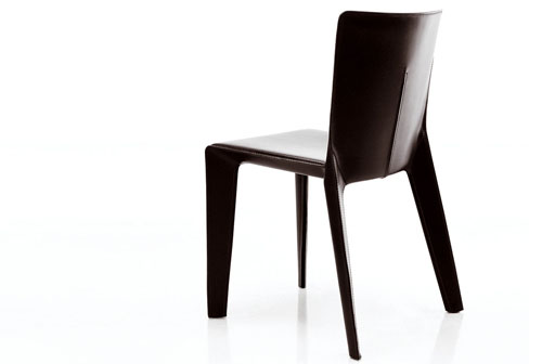 Alfa Chair in fiberglass or leather by Hannes Wettstein for Molteni u0026 C  sc 1 st  Daily Icon & Alfa Geometric Chair by Hannes Wettstein | Daily Icon