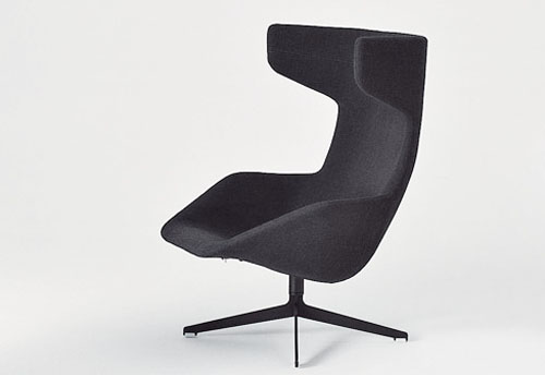 take a line for a walk a lounge chair by moroso daily icon. Black Bedroom Furniture Sets. Home Design Ideas