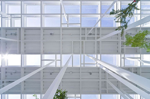 White Forest Building By Junya Ishigami Daily Icon