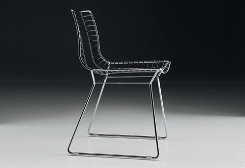Sunray Stainless Steel And Chrome Chairs By Tonon