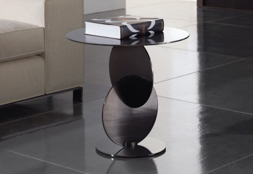 From Sketch To Realization, A Sophisticated Coffee Table With Laser Cut,  Black Nickel Finished Discs Assembled And Welded.