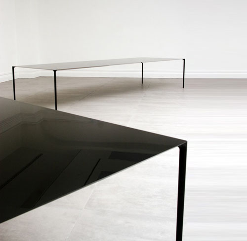 Rare Brushed Stainless Steel And Laminate Desk By Bernard