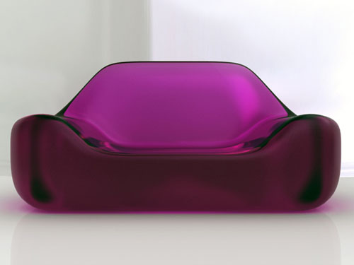 Glossy Lipstick Sofa from Sand & Birch