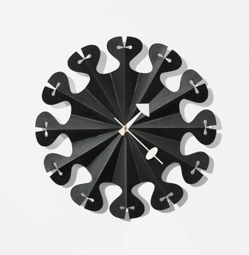 Pleated Star Wall Clock by George Nelson