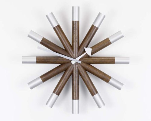 Nelson Polygon, Flock Of Butterflies & Wheel Clocks For Vitra