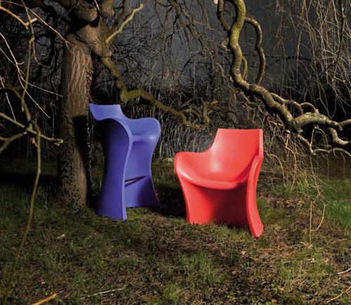 B-Line Woopy Armchair & Bar Stool by Karim Rashid