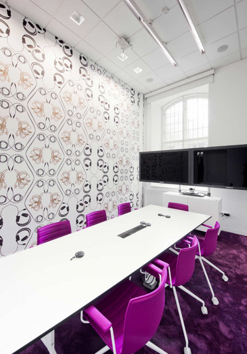 The Office Design Is Based On Spirit Of Skype How It A Useful And Playful Tool That Connects World In Between Shapes Interconnected