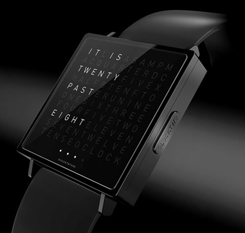 qlocktwo w watch by biegert funk daily icon. Black Bedroom Furniture Sets. Home Design Ideas