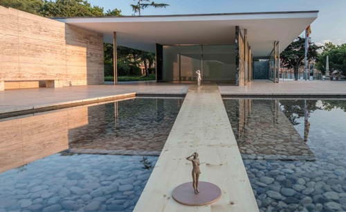 Xavier veilhan architectones barcelona pavilion daily icon for Show parameter pool
