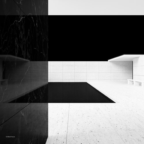 mies van der rohe barcelona pavilion posters by blackhaus daily icon. Black Bedroom Furniture Sets. Home Design Ideas